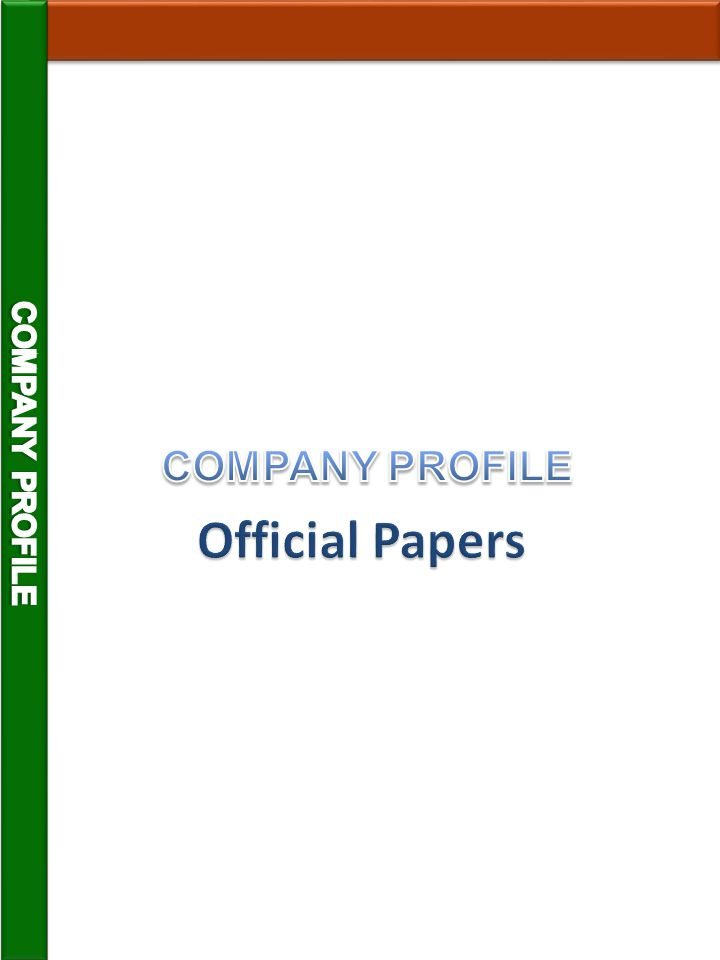 COMPANY PROFILE COMPANY PROFILE Official Papers