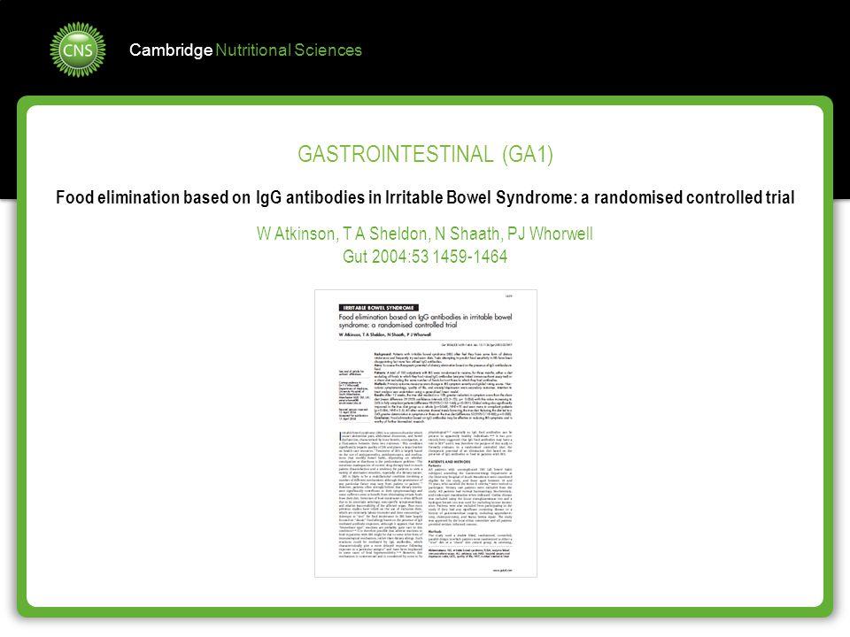 GASTROINTESTINAL (GA1)