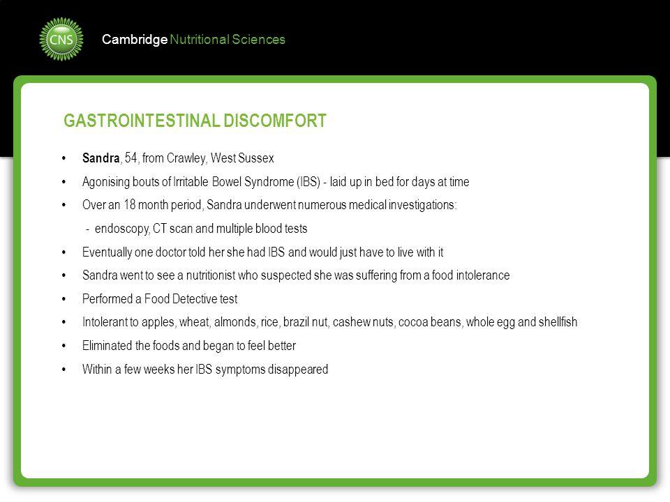GASTROINTESTINAL DISCOMFORT