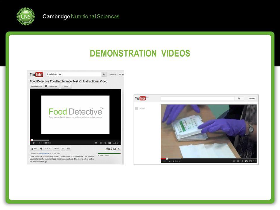 DEMONSTRATION VIDEOS