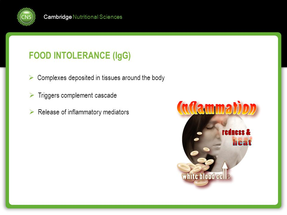 FOOD INTOLERANCE (IgG)