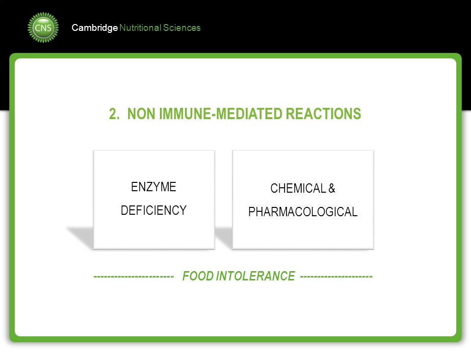 2. NON IMMUNE-MEDIATED REACTIONS
