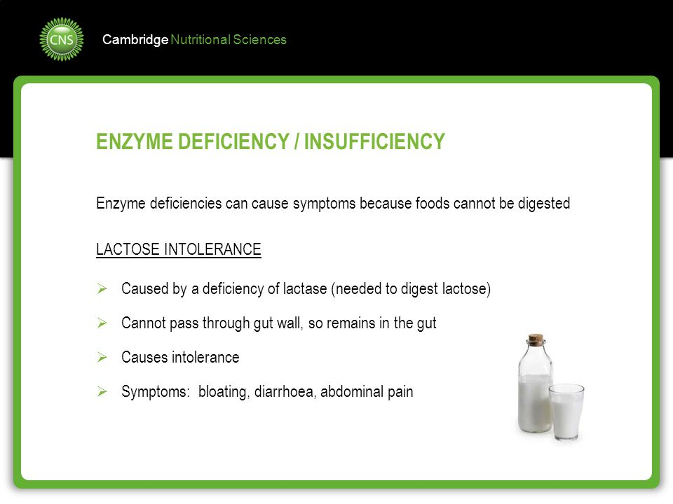 ENZYME DEFICIENCY / INSUFFICIENCY