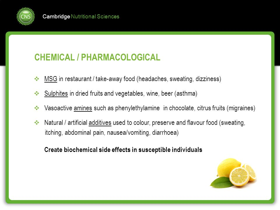 CHEMICAL / PHARMACOLOGICAL