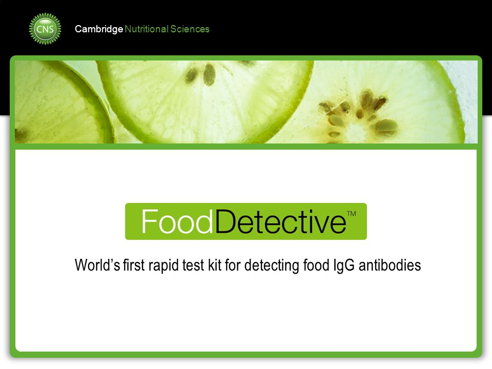 World's first rapid test kit for detecting food IgG antibodies