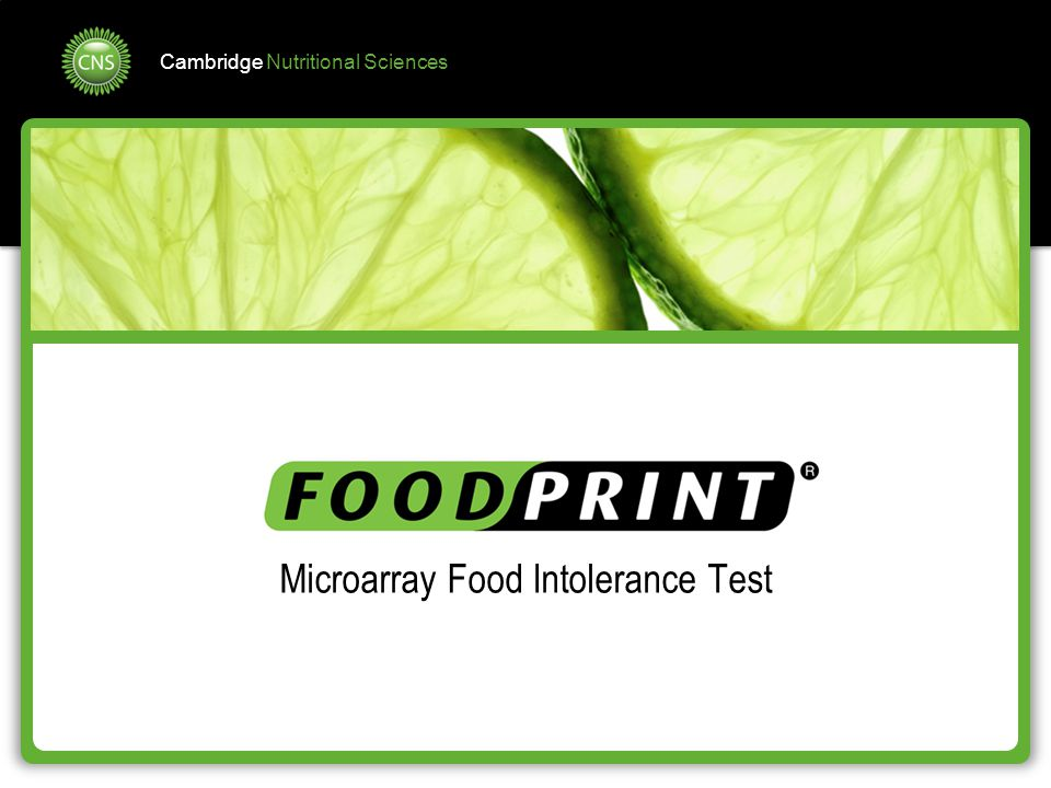 Microarray Food Intolerance Test