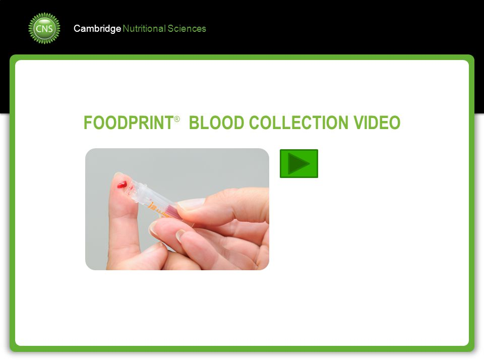 FOODPRINT® BLOOD COLLECTION VIDEO
