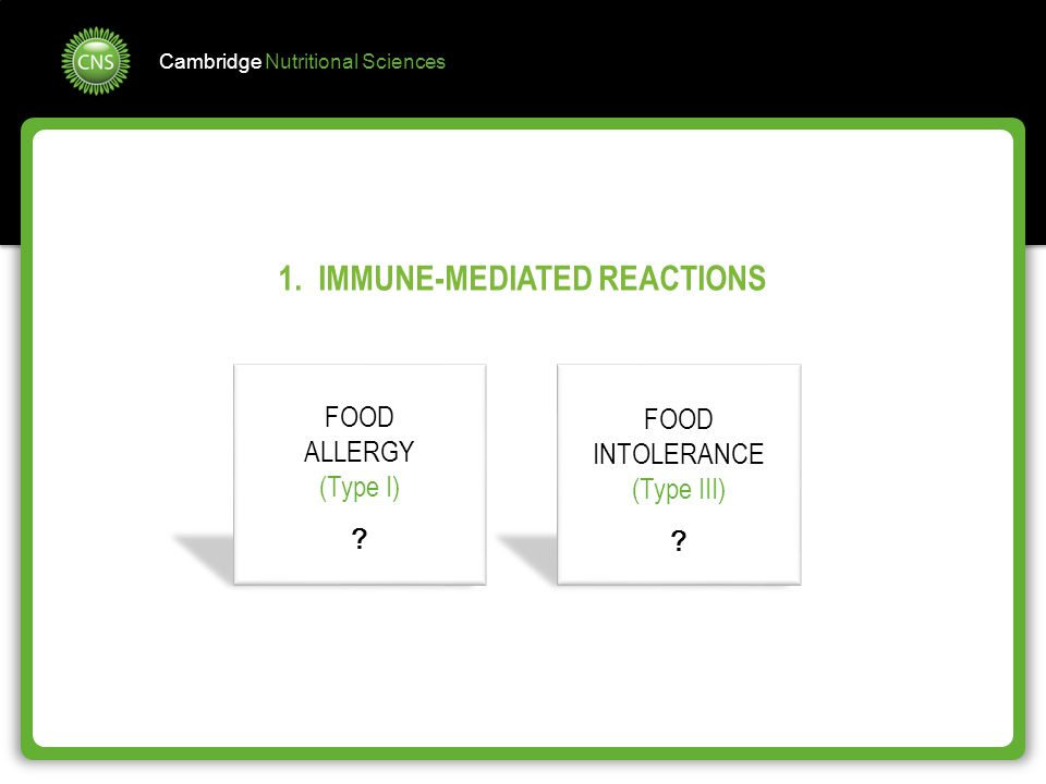 1. IMMUNE-MEDIATED REACTIONS