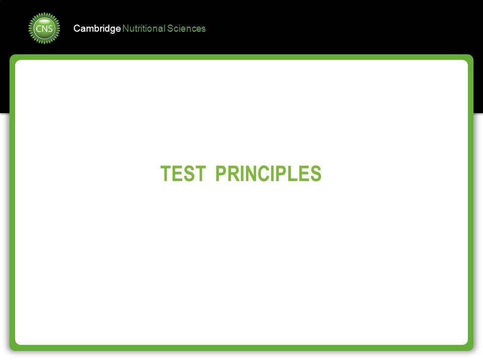 TEST PRINCIPLES