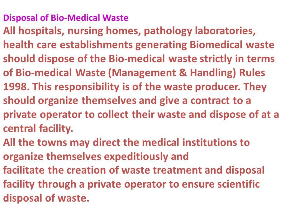 Disposal of Bio-Medical Waste