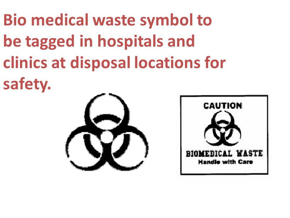 Bio medical waste symbol to