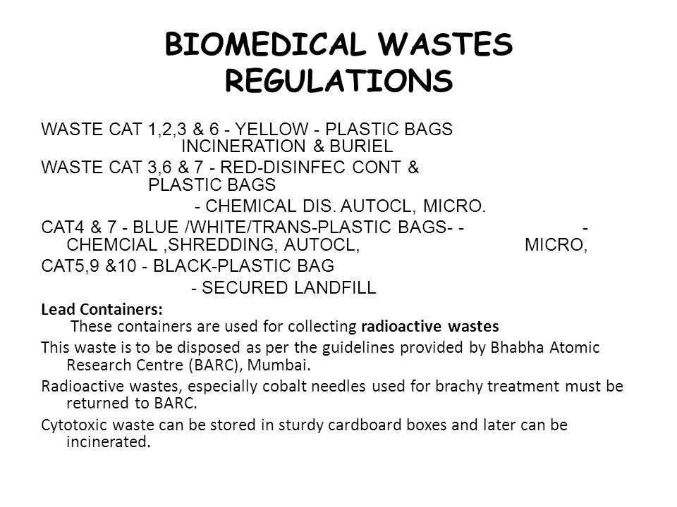 BIOMEDICAL WASTES REGULATIONS
