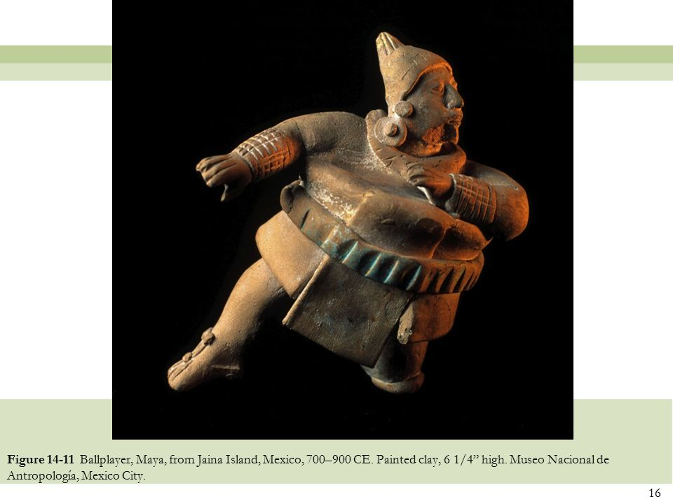 Figure 14-11 Ballplayer, Maya, from Jaina Island, Mexico, 700–900 CE