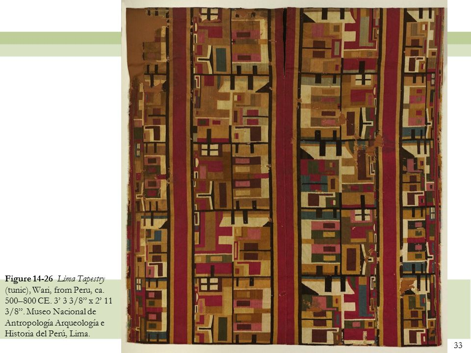 Figure 14-26 Lima Tapestry (tunic), Wari, from Peru, ca. 500–800 CE