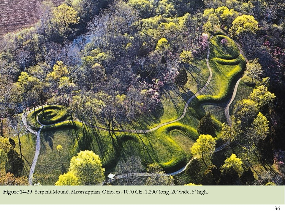 Figure 14-29 Serpent Mound, Mississippian, Ohio, ca. 1070 CE