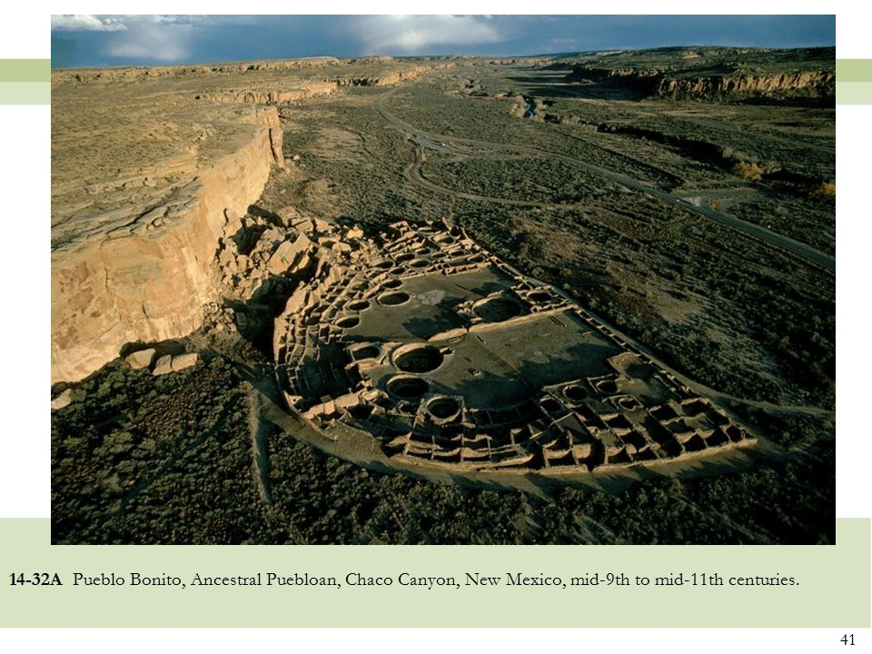 14-32A Pueblo Bonito, Ancestral Puebloan, Chaco Canyon, New Mexico, mid-9th to mid-11th centuries.