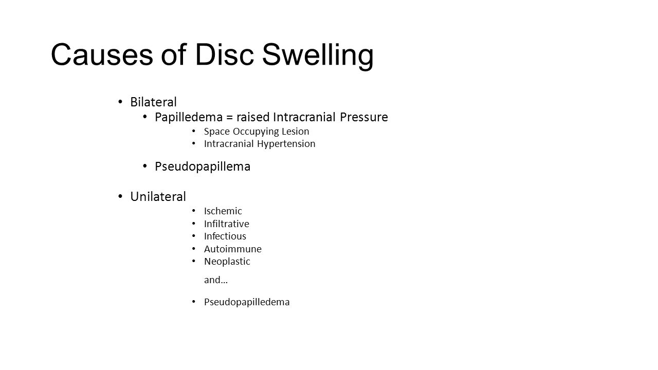 Causes of Disc Swelling