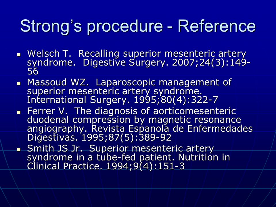 Strong's procedure - Reference