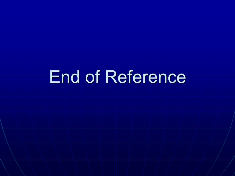 End of Reference