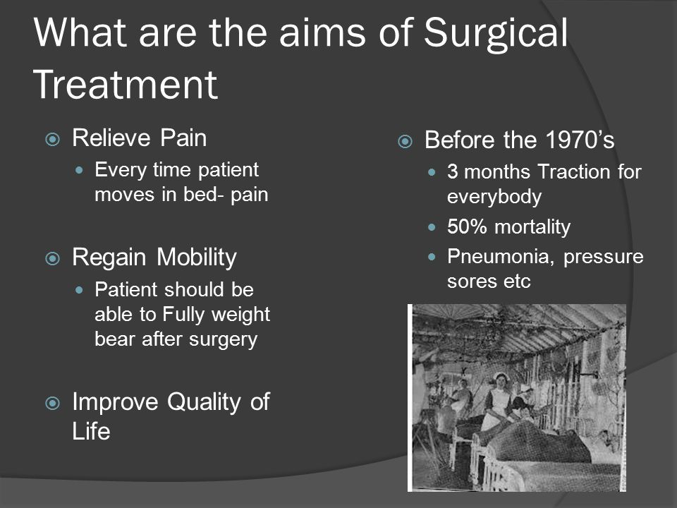 What are the aims of Surgical Treatment