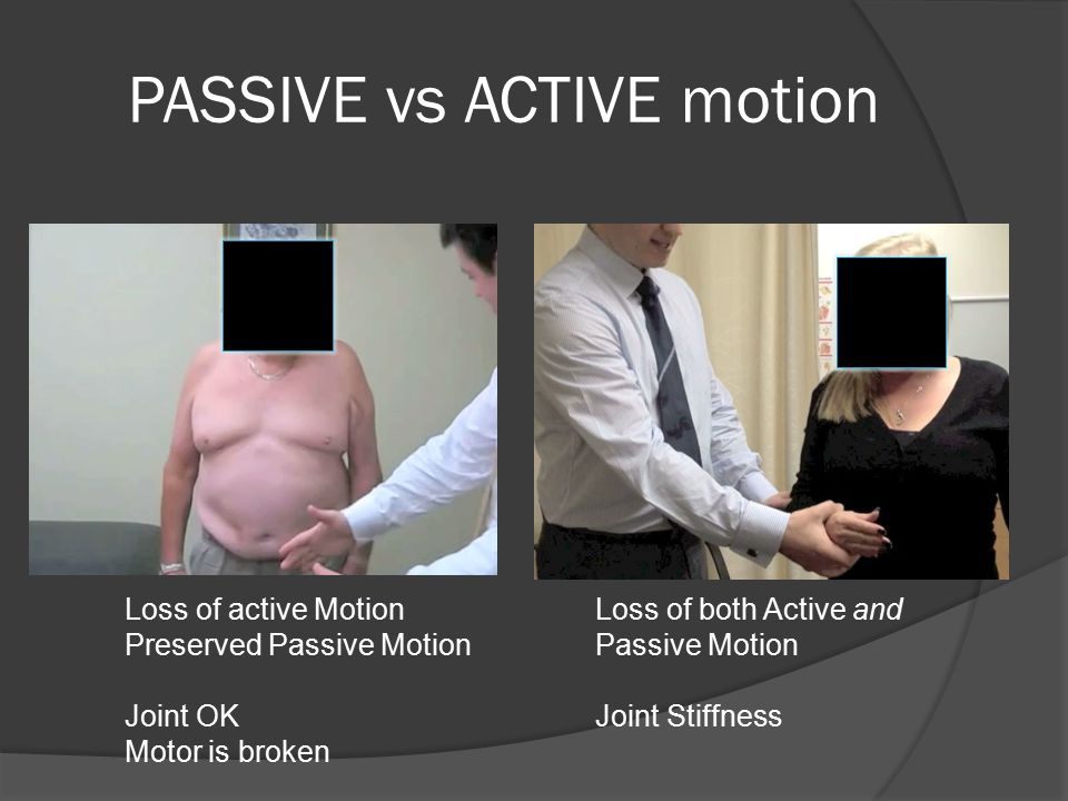 PASSIVE vs ACTIVE motion