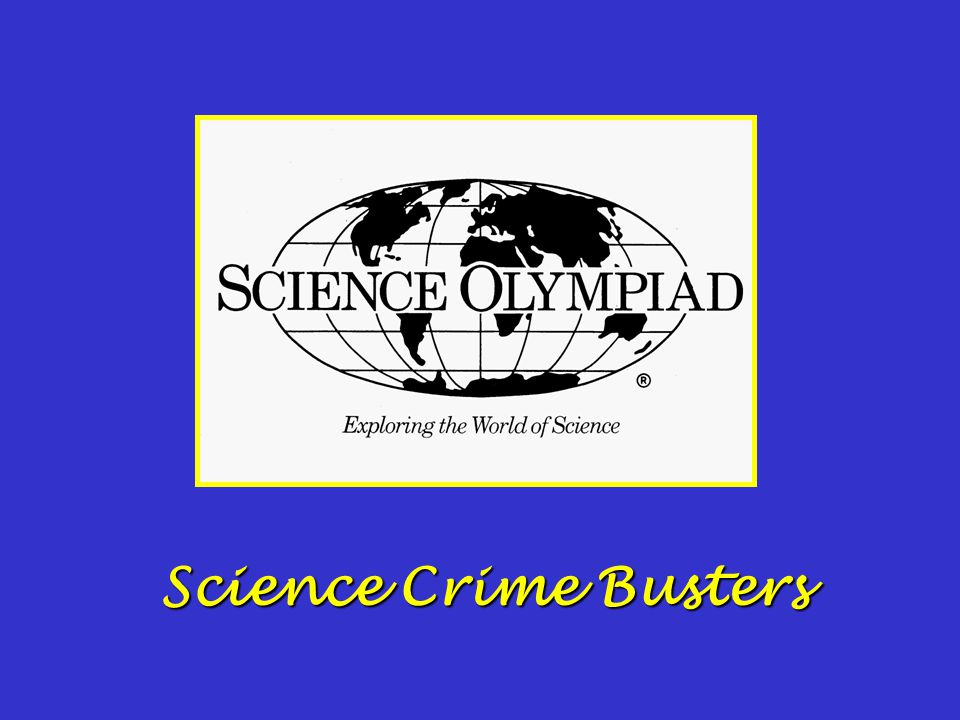 Science Crime Busters