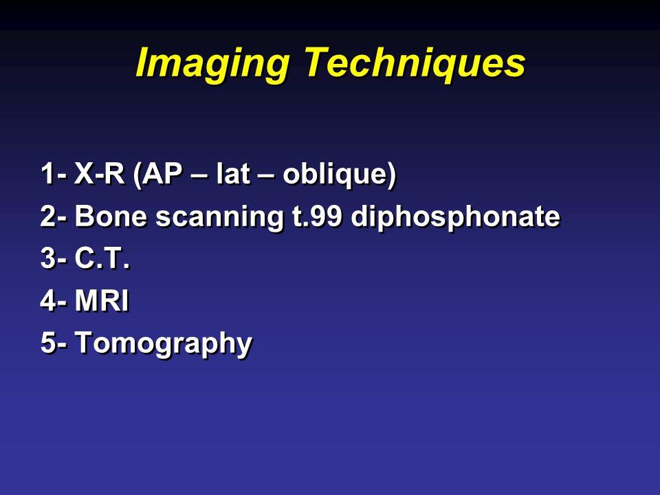 Imaging Techniques 1- X-R (AP – lat – oblique)