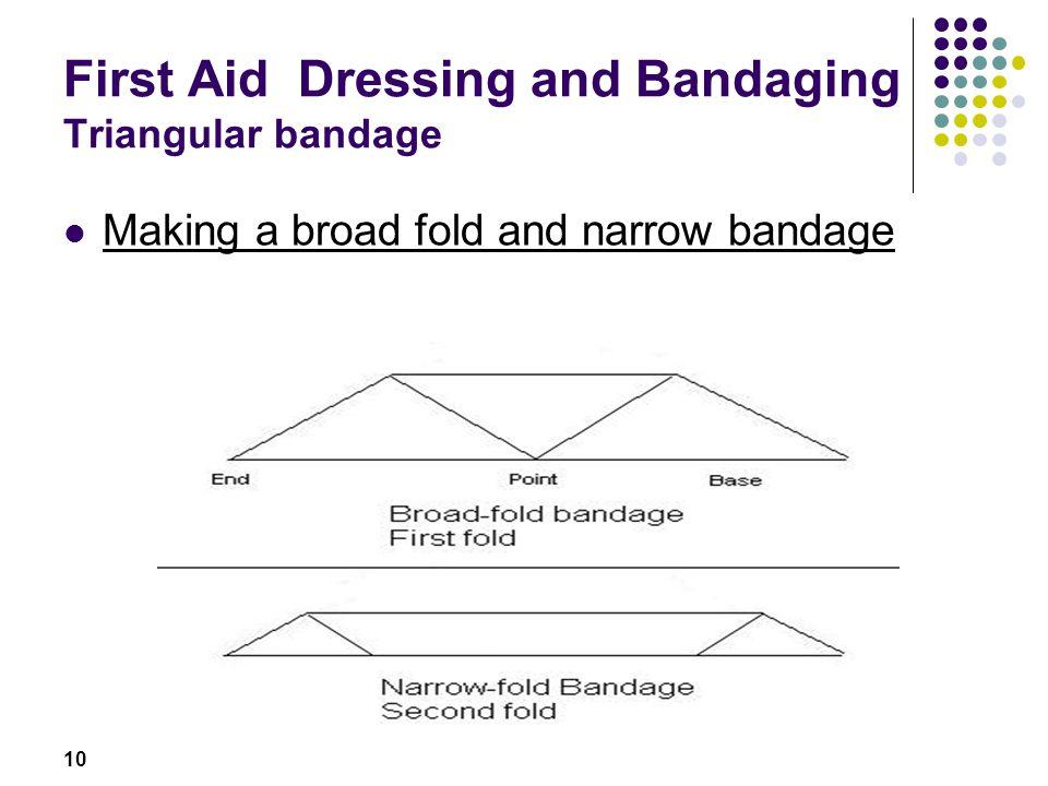 First Aid Dressing and Bandaging Triangular bandage