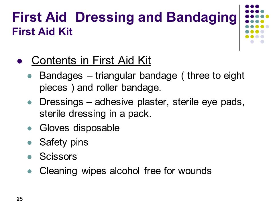 First Aid Dressing and Bandaging First Aid Kit