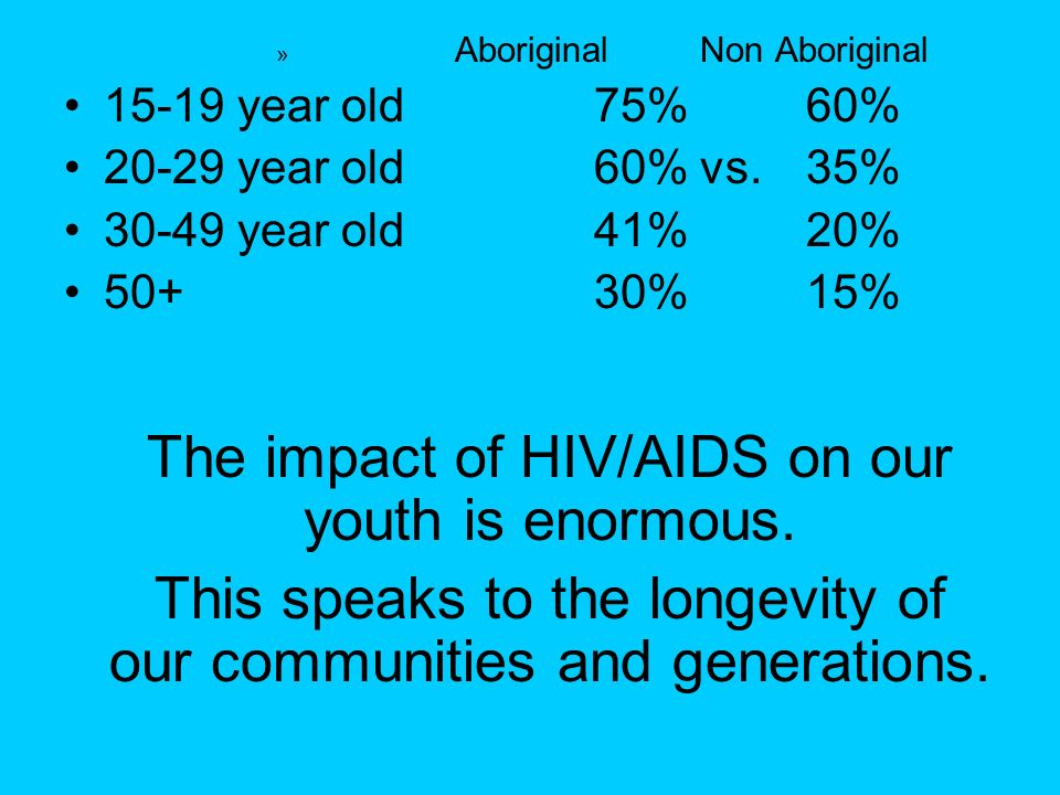 This speaks to the longevity of our communities and generations.