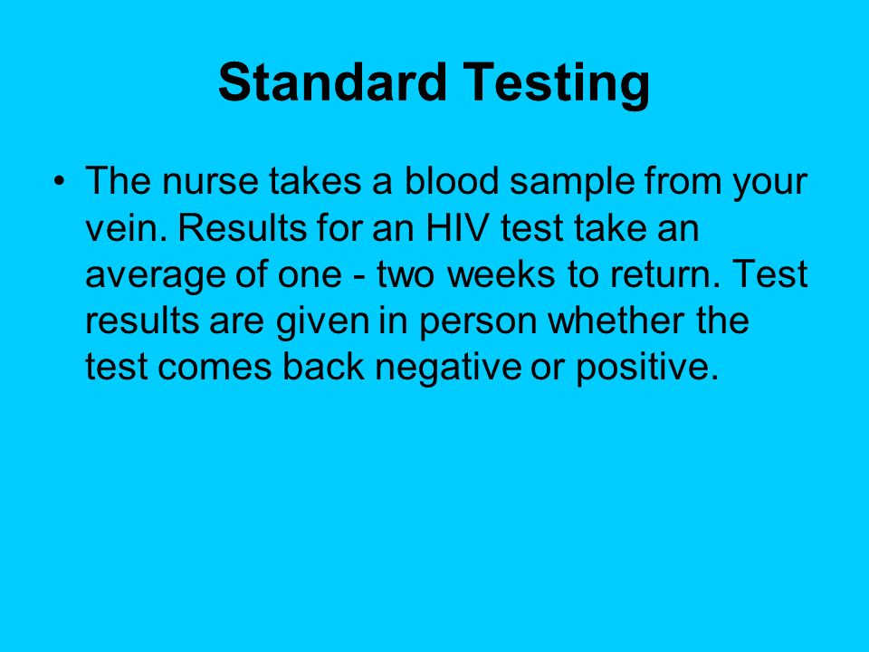 Standard Testing
