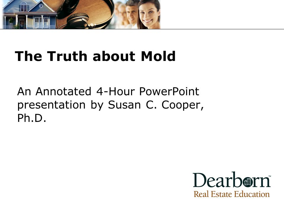 An Annotated 4-Hour PowerPoint presentation by Susan C. Cooper, Ph.D.
