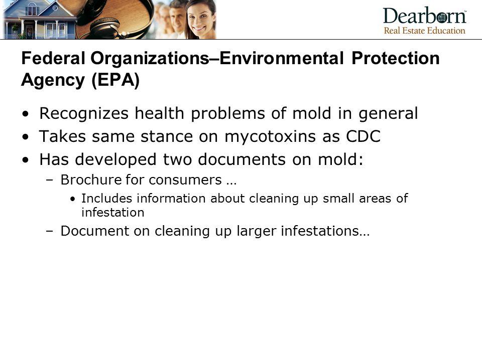 Federal Organizations–Environmental Protection Agency (EPA)