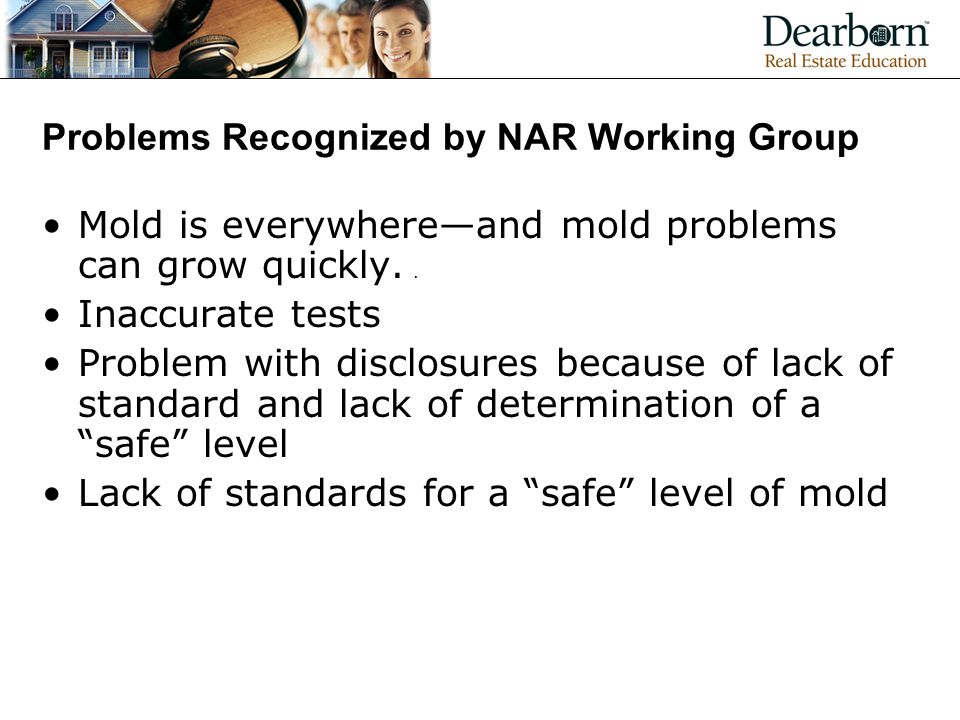 Problems Recognized by NAR Working Group