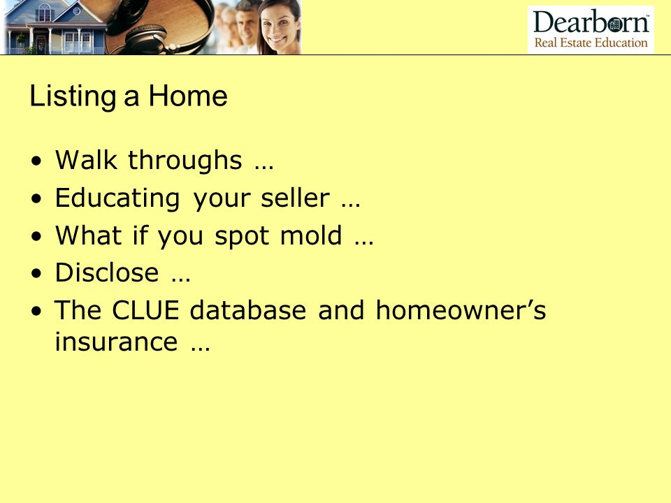 Listing a Home Walk throughs … Educating your seller …