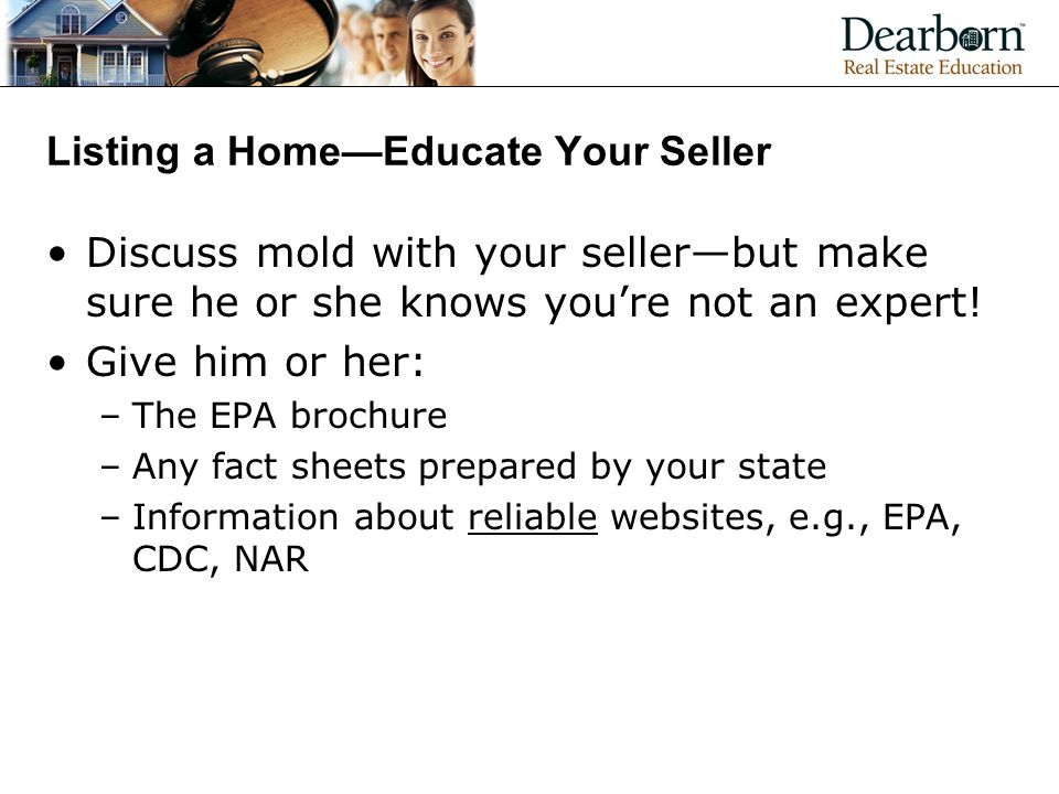 Listing a Home—Educate Your Seller