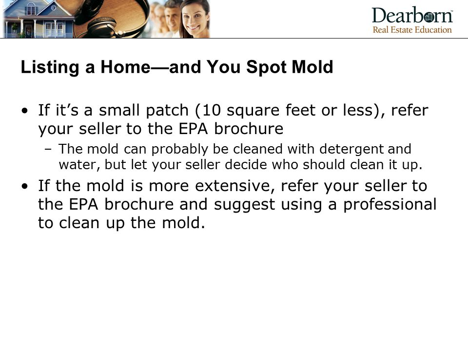Listing a Home—and You Spot Mold