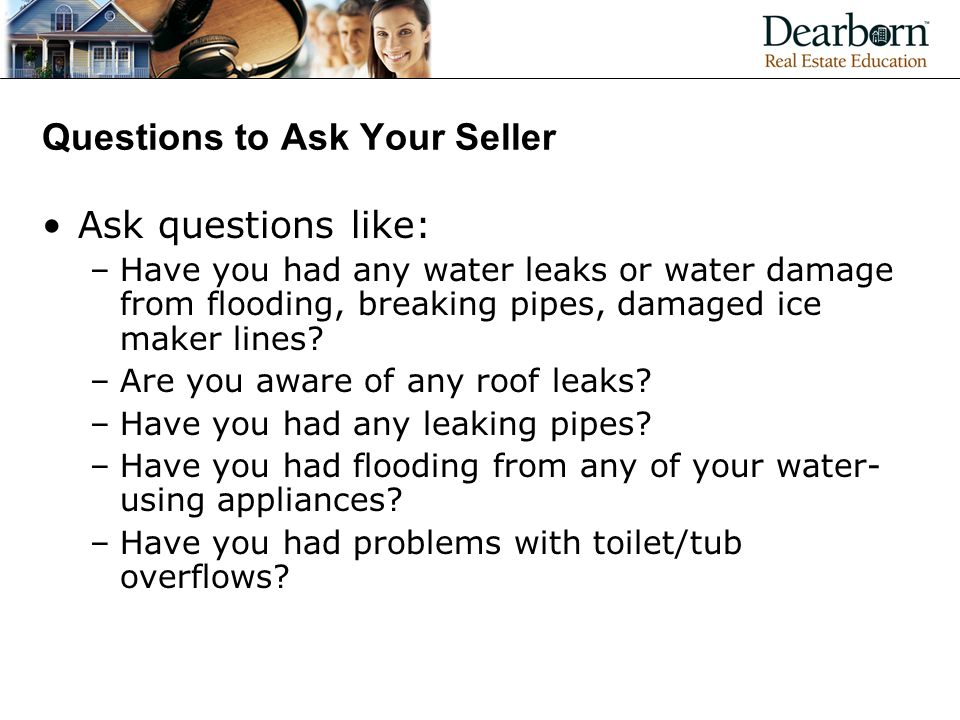 Questions to Ask Your Seller