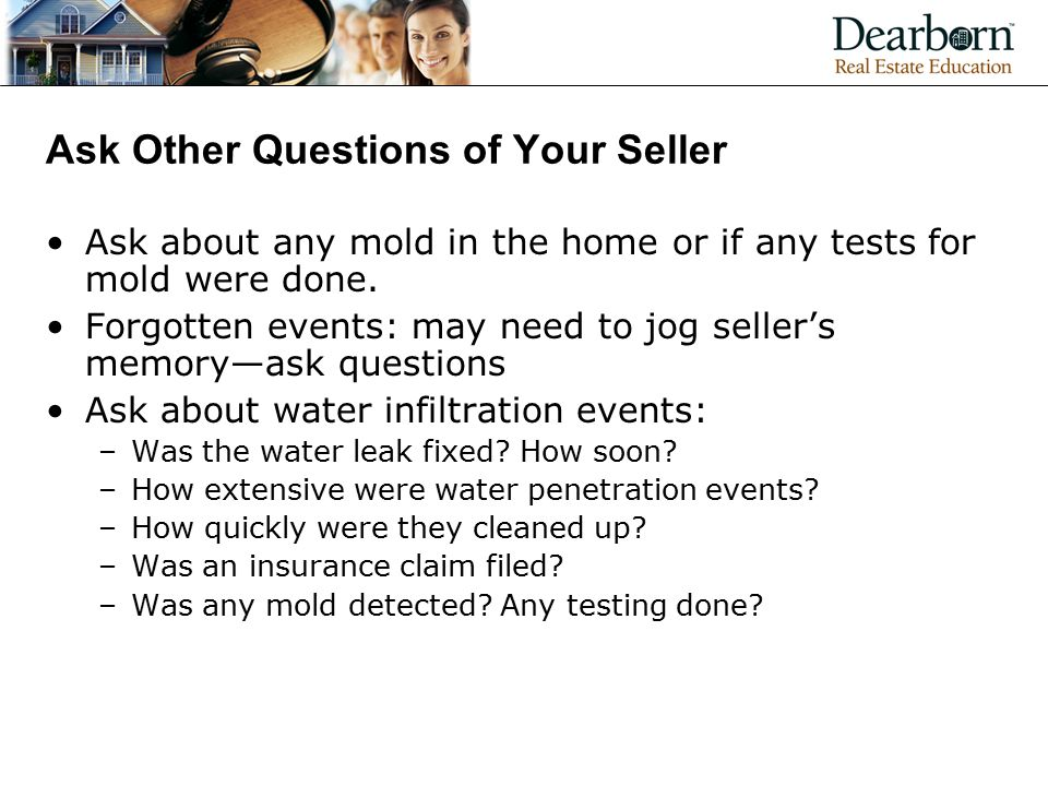 Ask Other Questions of Your Seller