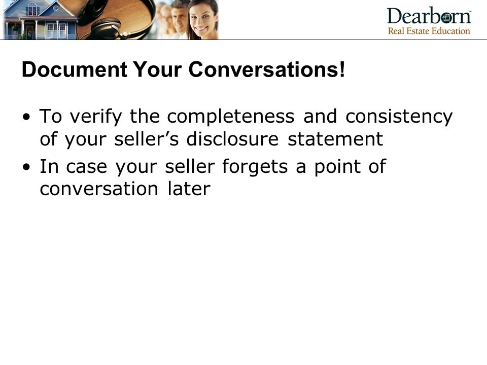 Document Your Conversations!