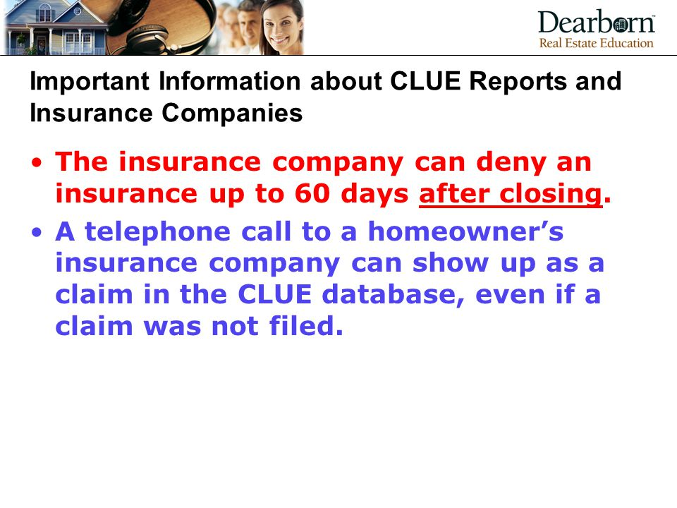 Important Information about CLUE Reports and Insurance Companies