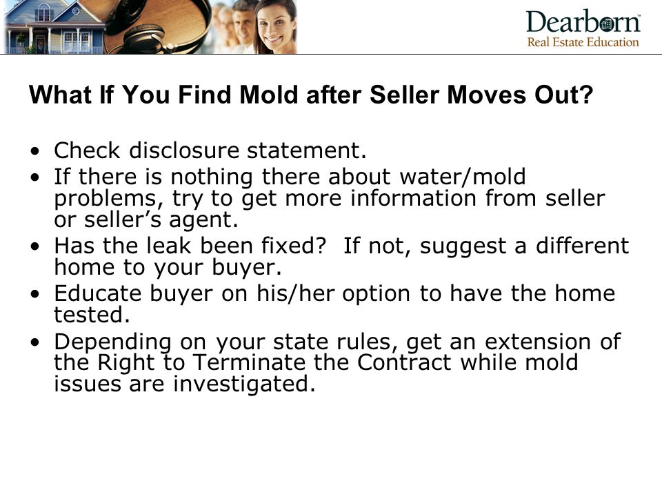 What If You Find Mold after Seller Moves Out