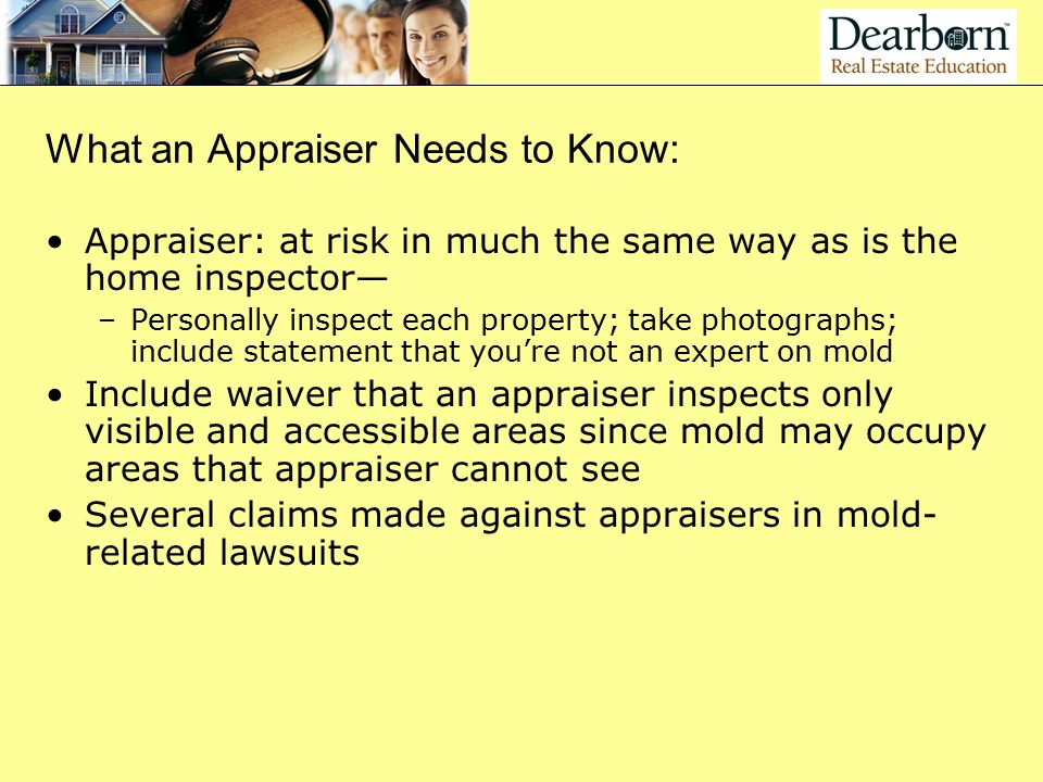 What an Appraiser Needs to Know: