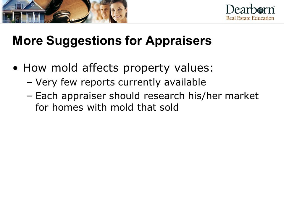 More Suggestions for Appraisers