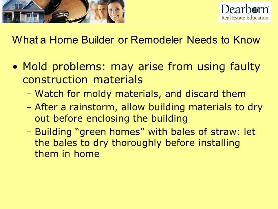 What a Home Builder or Remodeler Needs to Know
