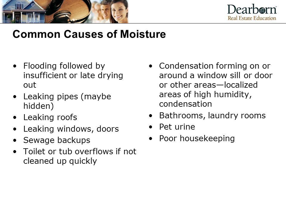 Common Causes of Moisture