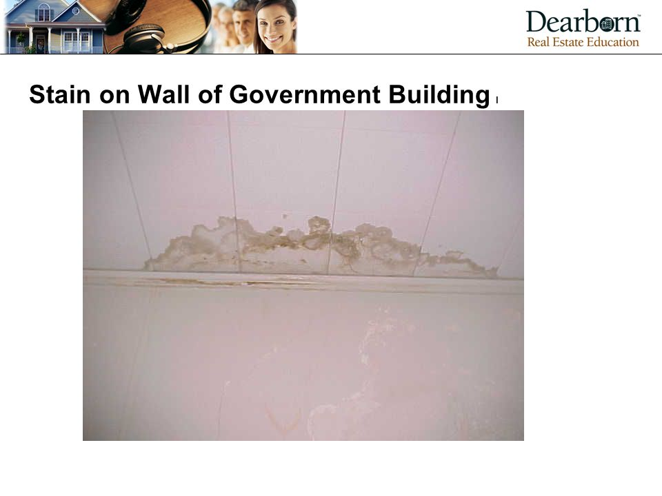 Stain on Wall of Government Building l