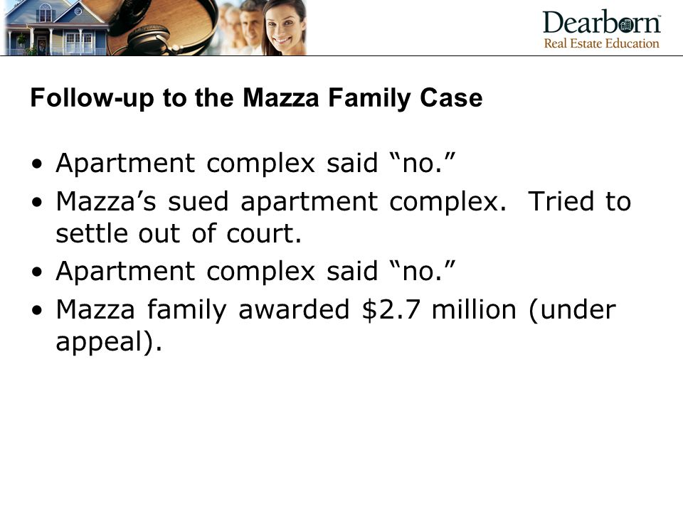 Follow-up to the Mazza Family Case