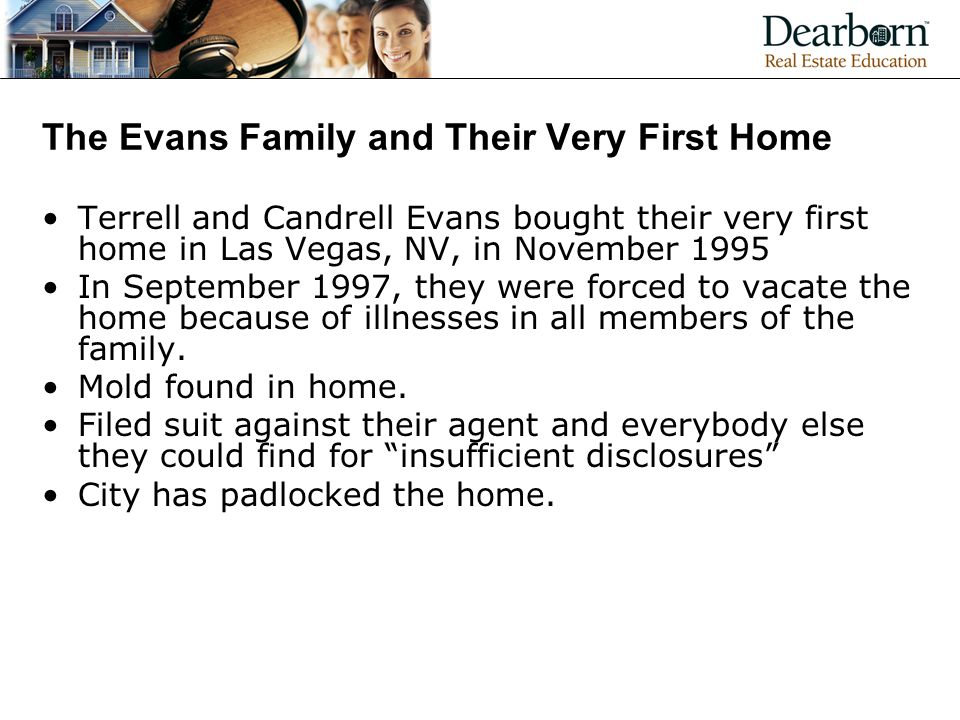 The Evans Family and Their Very First Home