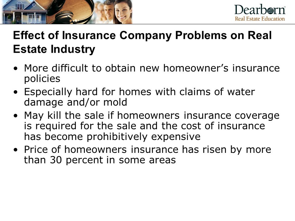 Effect of Insurance Company Problems on Real Estate Industry